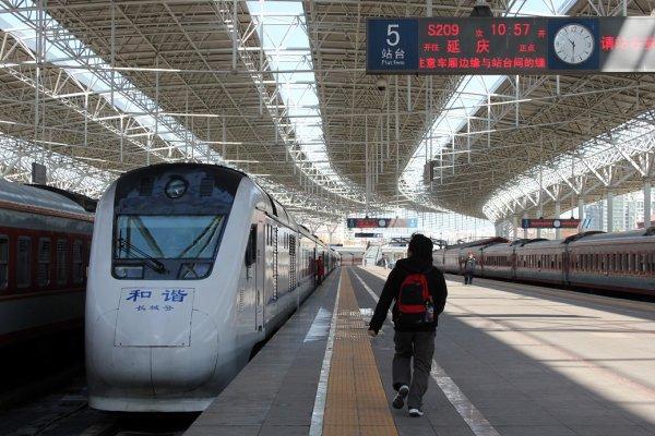 鉄道で万里の長城へ