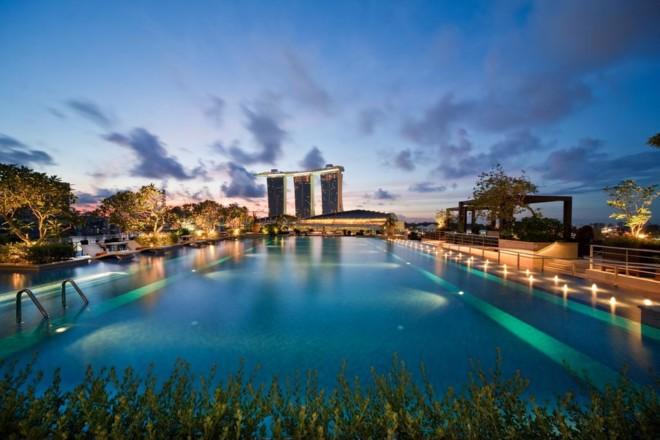 ザ フラートン ベイ ホテルのプール