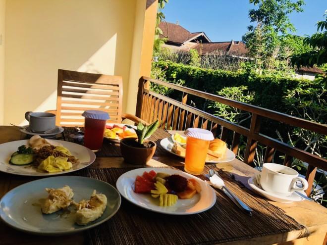 サポディラ ウブド ホテルの朝食