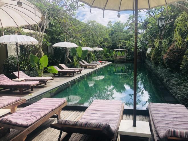 サポディラ ウブド ホテルのプール