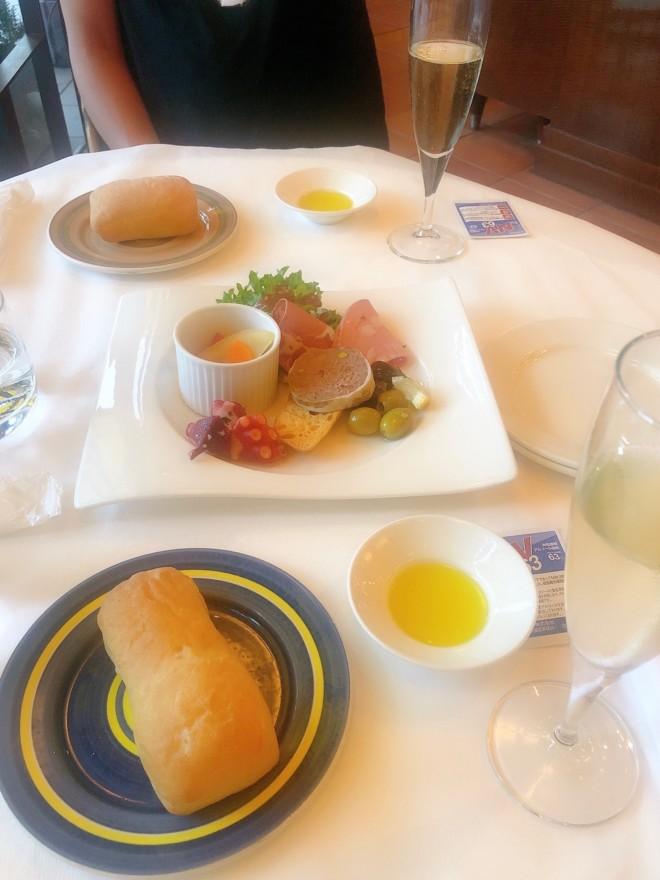 イタリアンレストラン(バジリコ)でディナー